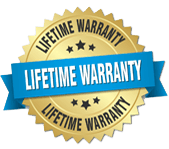 lifetime 100% warranty